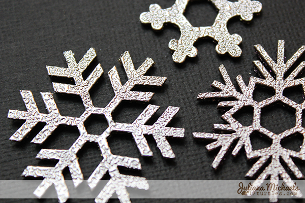 Silver Snowflakes Chipboard Tutorial by Juliana Michaels