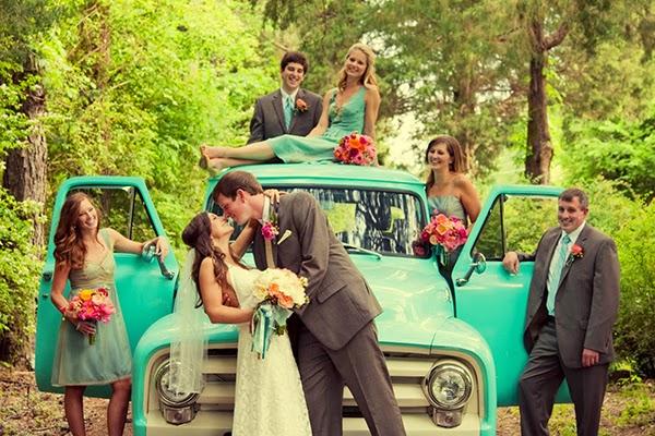 versão moderna da fotos de madrinhas, padrinhos e noivos