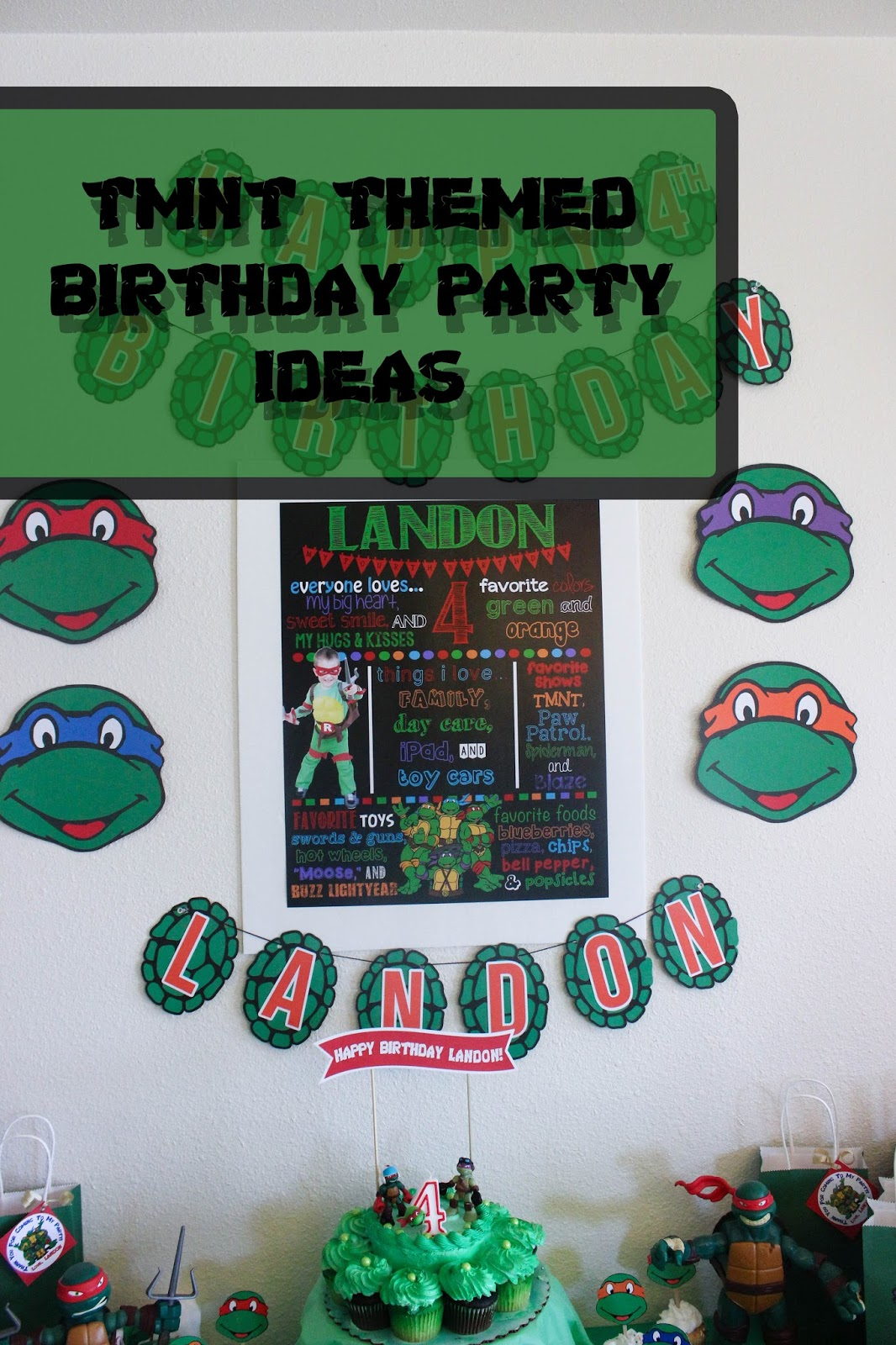 I Designed And Made Just About 95 Of My Sons TMNT Birthday Party Decorations Had A Blast Doing So If You Have Any Questions The Stuff