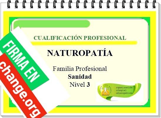 Firma ahora por la Cualificación Profesional de Naturopatía