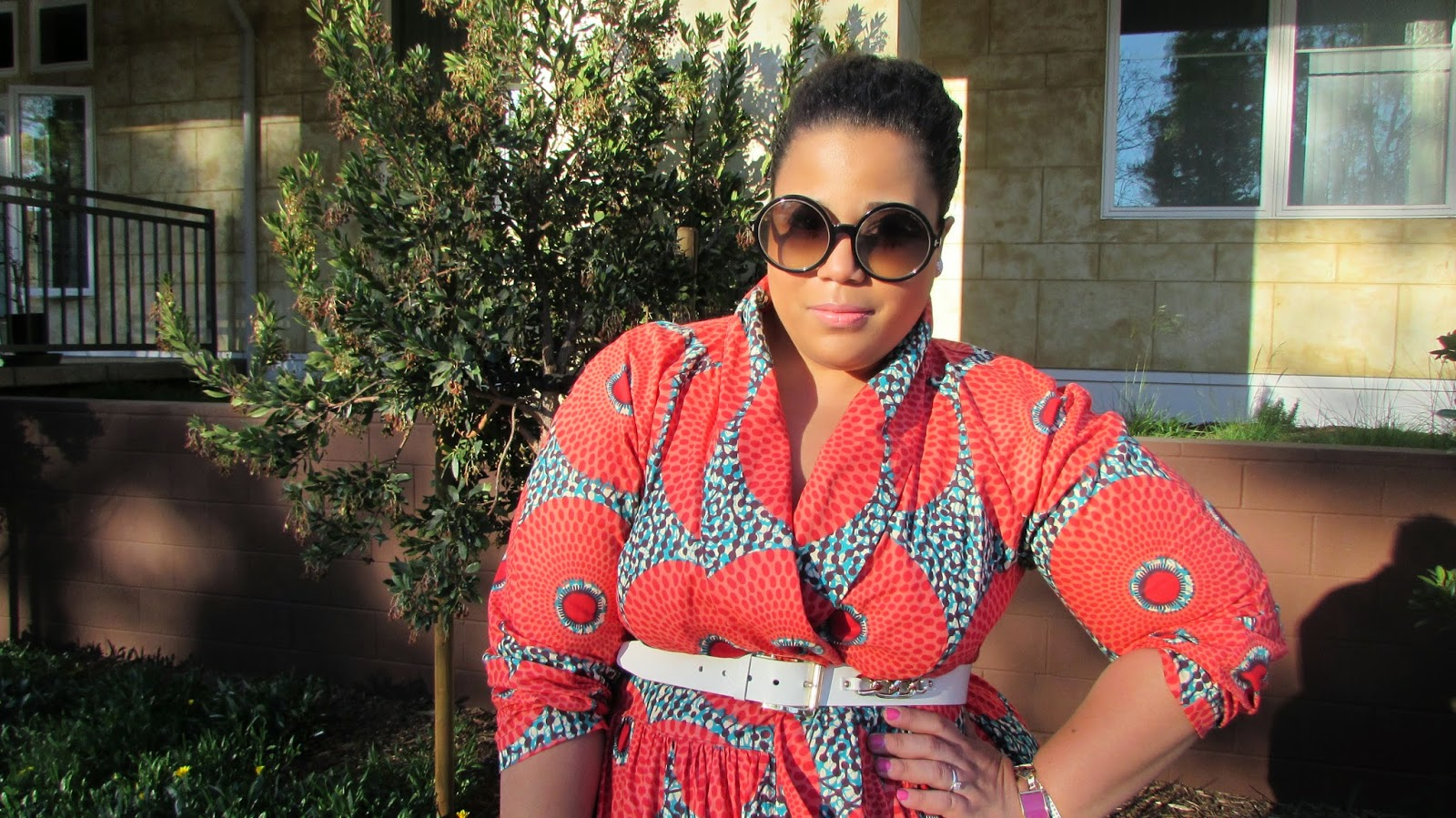 Ethnic print, Ankara Plus size dress, How to wear ethnic prints