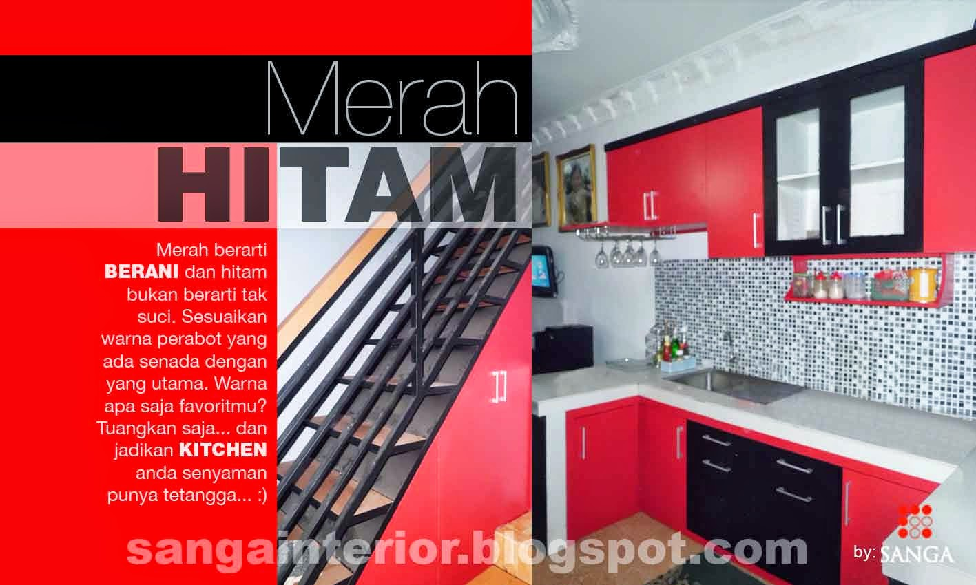 Kitchen Set Merah Hitam Sanga Interior