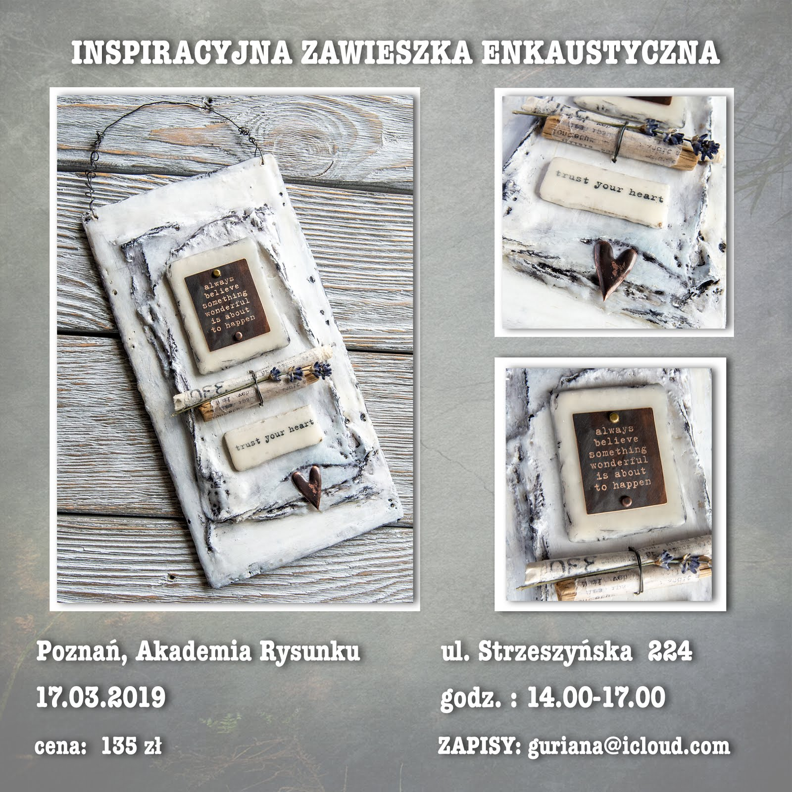 Poznań - Zawieszka enkaustyczna