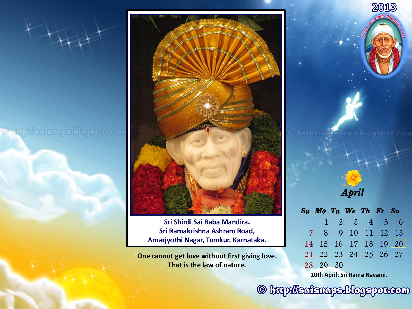 Sai In My Breath: New Year 2013 Sri Shirdi Sai Baba Wallpapers.