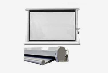Pantalla para proyector manual tripode desde for Pantalla proyector electrica