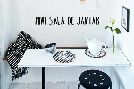 sala de jantar pequena - banco e mesa - cantinho