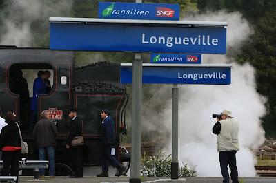 train vapeur gare photographe vintage  locomotive 141 TB 407 AJECTA Longueville Seine-et-Marne
