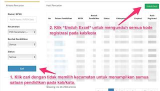 cara mendapatkan kode registrasi dapodik paud paudni dikmas kemdikbud