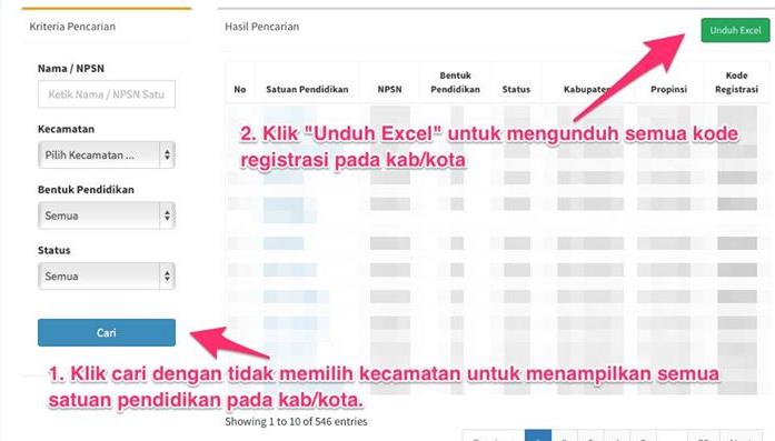 Cara Mendapatkan Kode Registrasi Dapodik PAUD-Dikmas