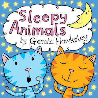 Cover design of Sleepy Animals a kindle children's bedtime ebook
