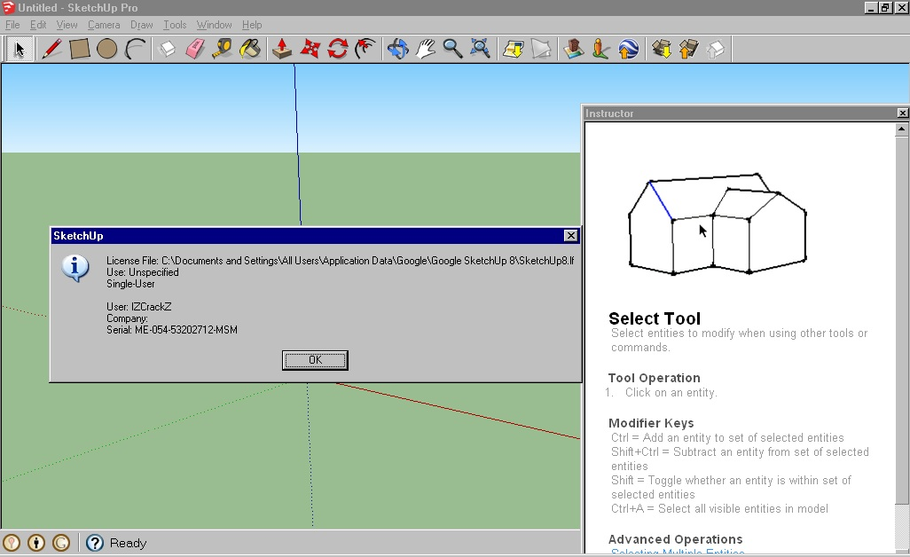 Keygen crack sketchup pro 8 full serial for Sketchup 2013