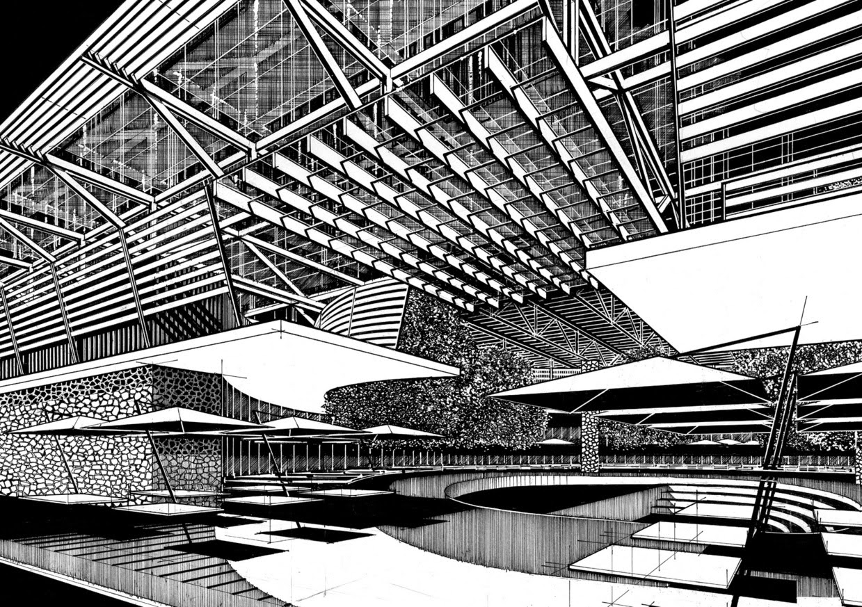 08-Paul-Hill-Pen-and-Ink-Architectural-Drawings-and-Sketches-www-designstack-co