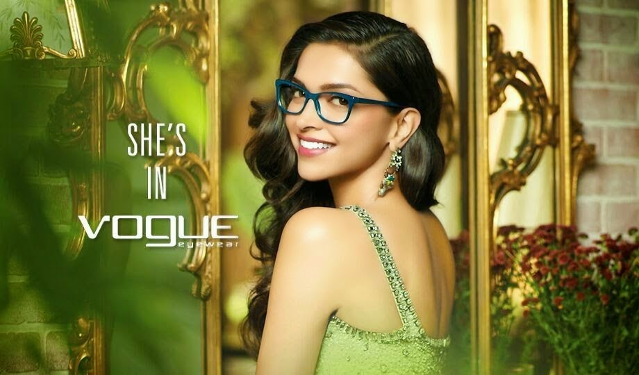 Deepika Padukone green gown in Vogue Eyewear