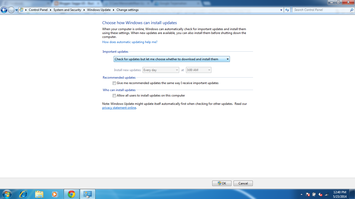 Cara Menonaktifkan Windows Update Di Windows 7