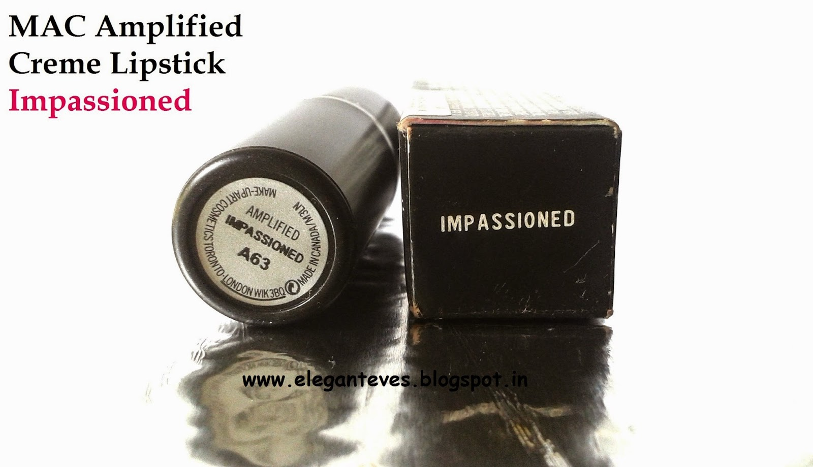 "REVIEW, SWATCHES, LOTD OF MAC AMPLIFIED CREME LIPSTICK ""IMPASSIONED"""