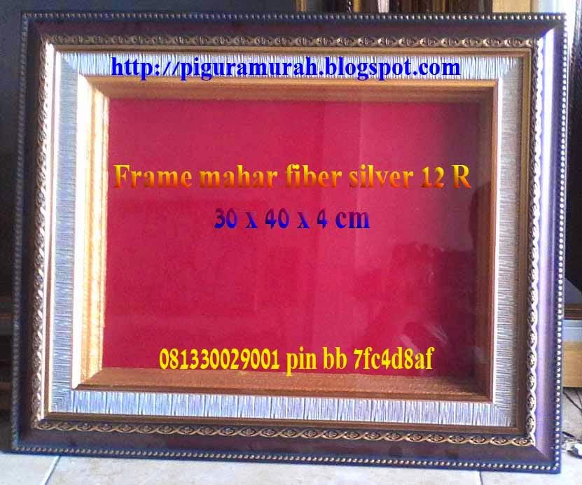 Frame pigora mahar pernikahan fiber silver 12 R