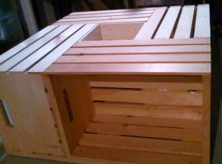 coffee table from a wine crate