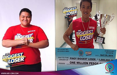 "Bryan Castillo is named the second winner on a reality competition show aired in abs-cbn ""The Biggest Loser Pinoy Edition""."