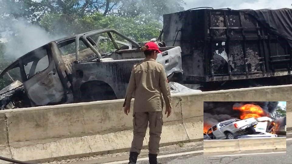 Casal de adultos e criança morrem após batida que resultou em explosão