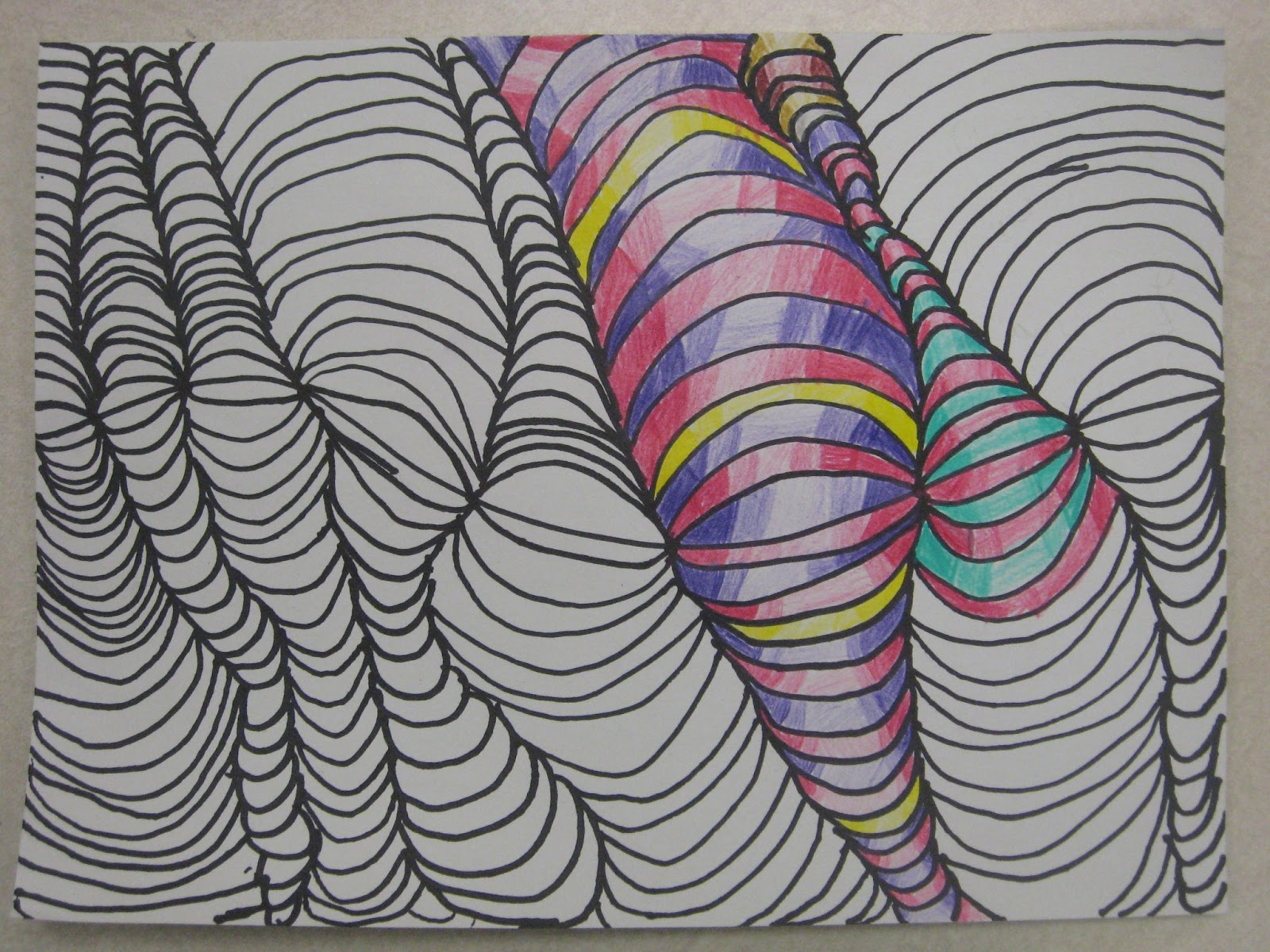 3d Line Art : Miss young s art room d line design with th grade