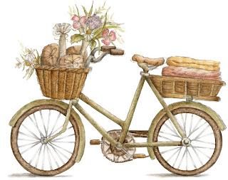 Imagem para decoupage de bicicleta