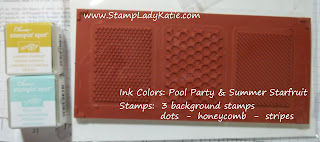 Inks and stamps from Stampin'UP!'s July My Paper Pumpkin Craft Kit