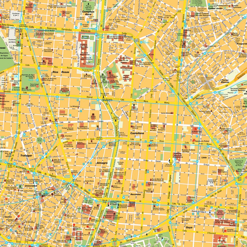 Map of Madrid Spain Free Printable Maps – Tourist Map of Madrid