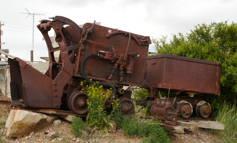 old mining cars
