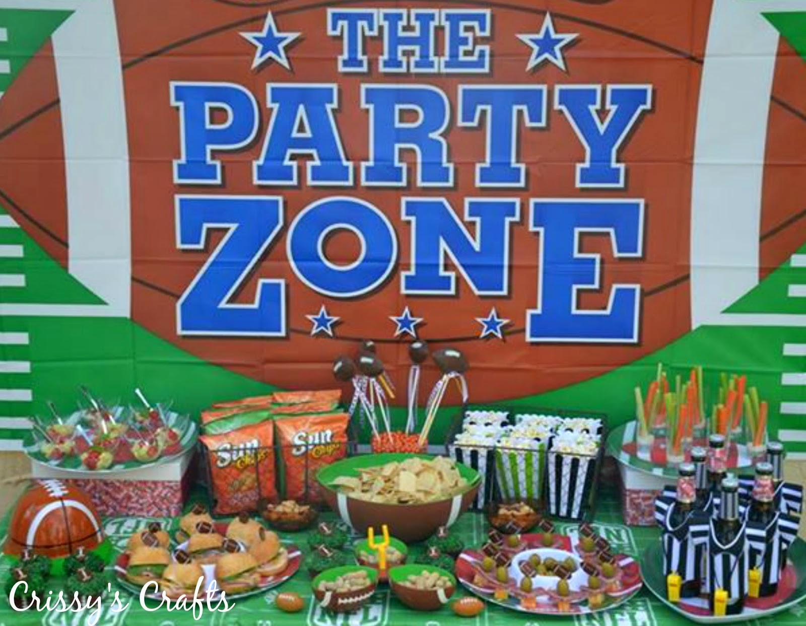 Crissy 39 s crafts superbowl party ideas for Super bowl party items