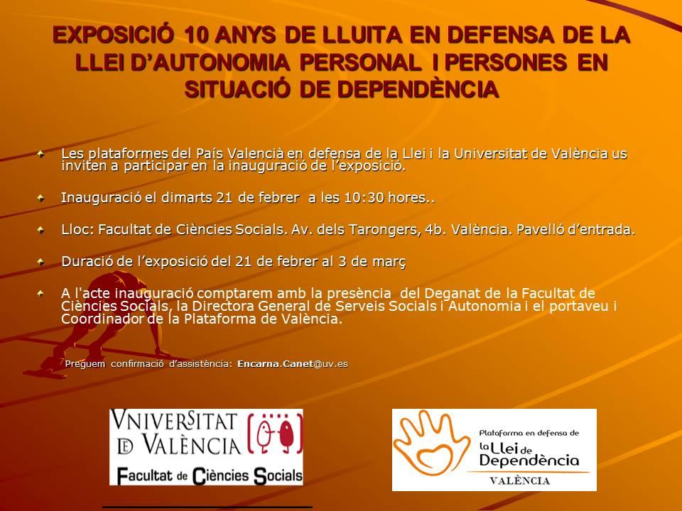 Exposición en la facultad de Ciencias Sociales de los 10 años de lucha de las Plataformas