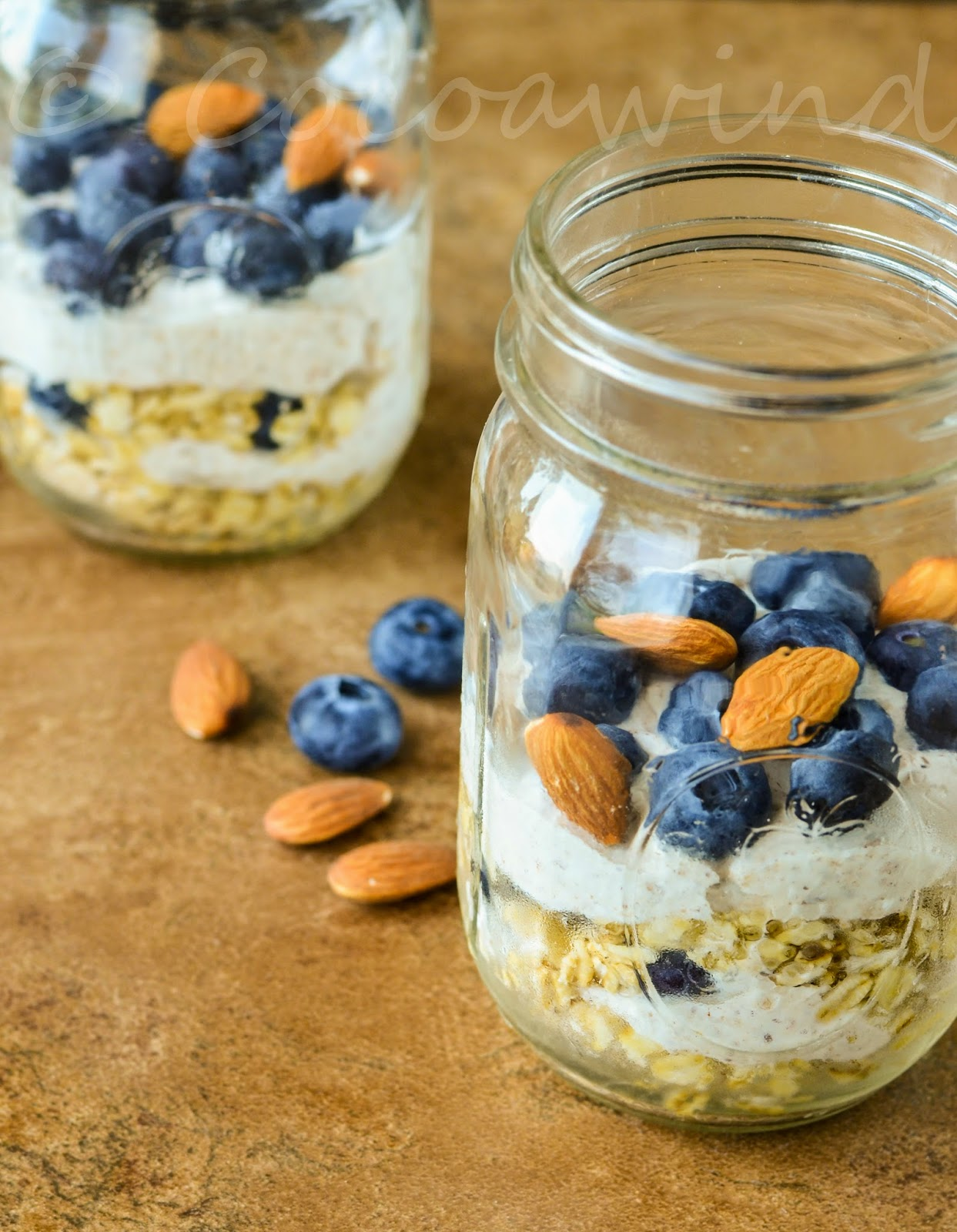 Overnight Oats: Blueberry, Cinnamon and Almond Butter