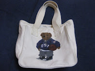 OLD RALPH LAUREN               TOTE BAG            WITH 「POLO BEAR」             PRINTED