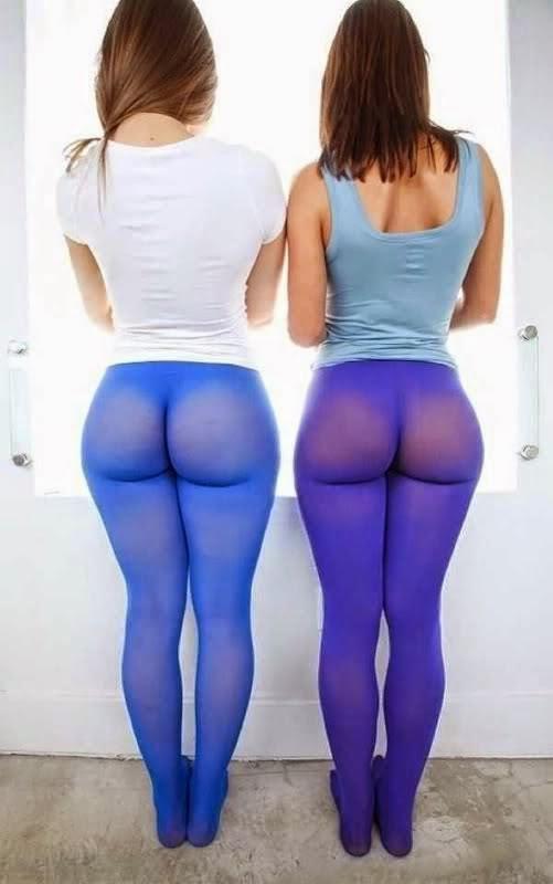 yoga through Girls see thong in pants