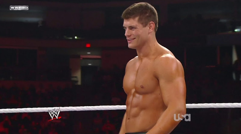 Cody Rhodes Shirtless in WWE Monday Night Raw 20111121