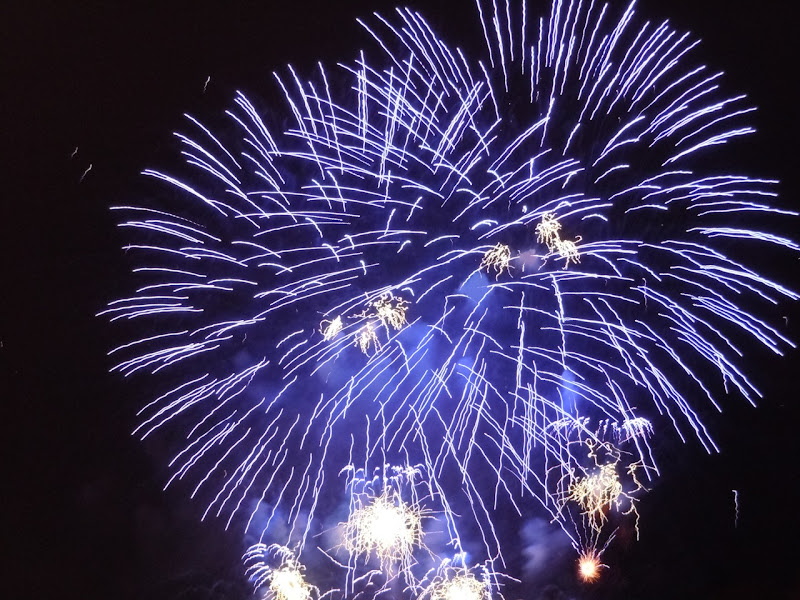 Celebration of Light blue fireworks