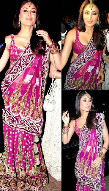 Kareena Kapoor in Pink Designer Lehenga Choli