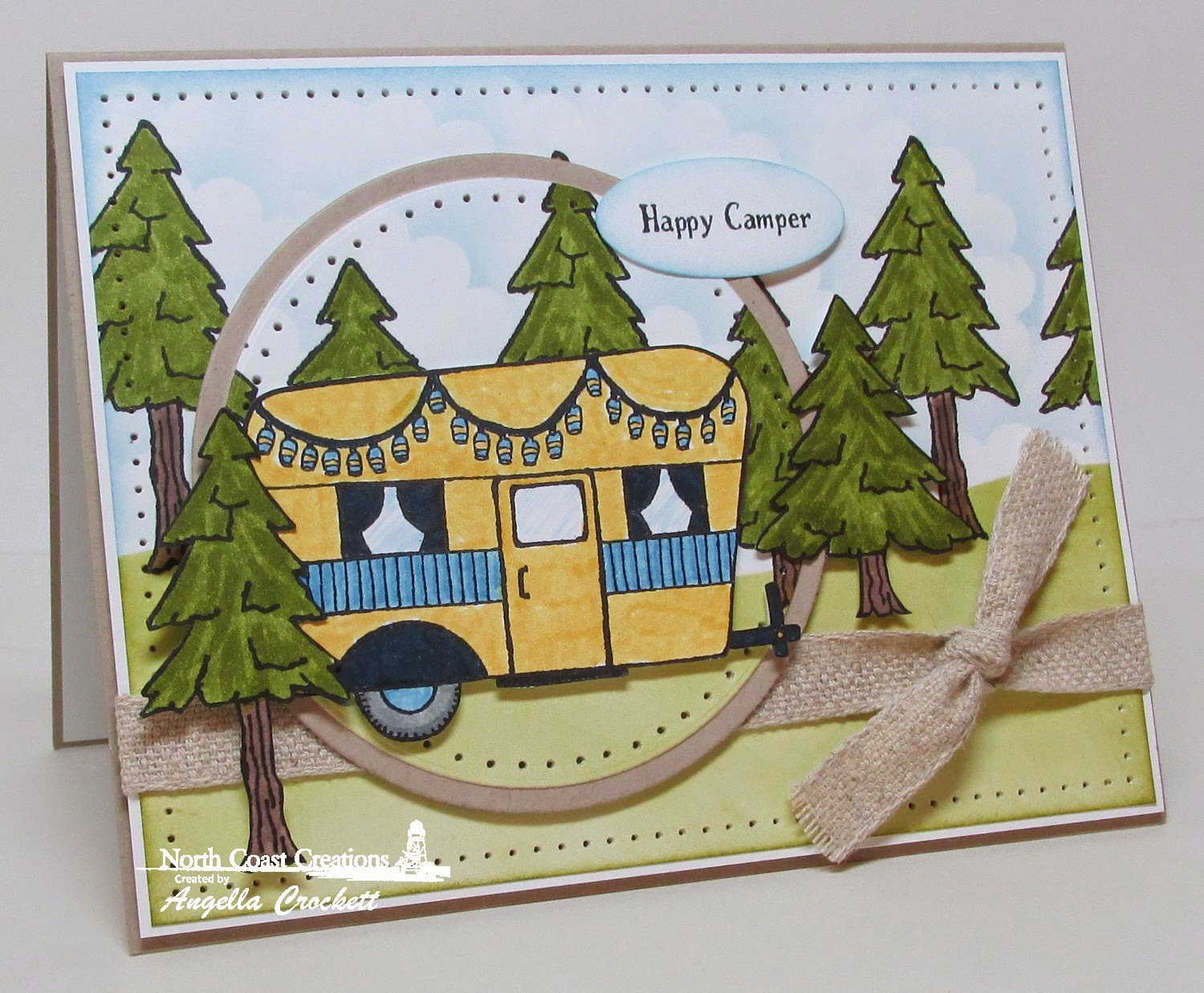 NCC Happy Camper, Card Designer Angie Crockett