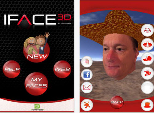 iFace3D App for iPhone