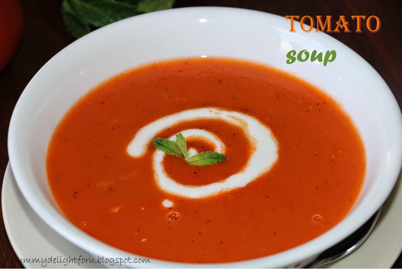yummy delight for u tomato soup recipe how to make tomato soup. Black Bedroom Furniture Sets. Home Design Ideas