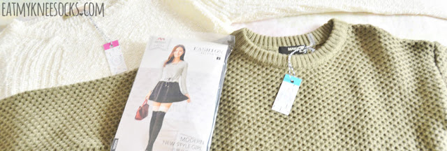 Today I'm reviewing three items from Idol Collective, an online Asian-inspired fashion retailer, including their cream-colored lace-trim Lovely in Lace sweater, their oversized olive green Cozy Up sweater, and their floral-trim Everything's Rosy tights. Review ahead!