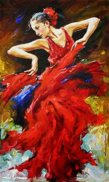 pintura de dança vibrante