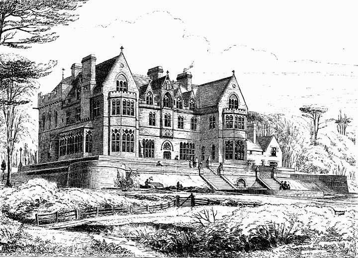 Knightshayes Drawing By Axel Haig For Eastlakes History Of The Gothic Revival Image Victorian Web