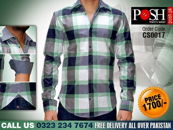 Posh Mens Wear Winter Dress Shirts Collection 2014-2015