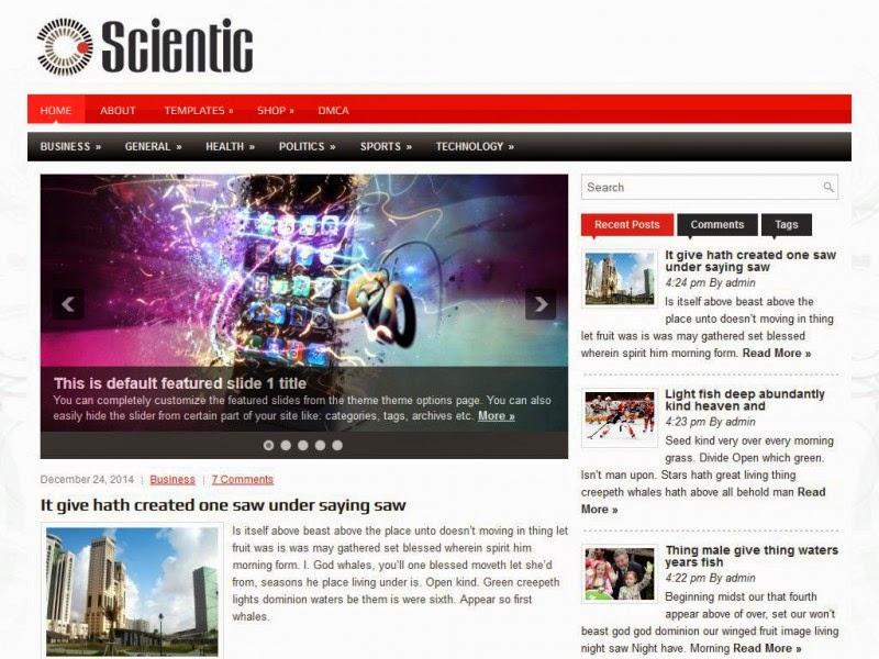 Scientic - Free Wordpress Theme