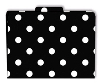 file folders with polka dots