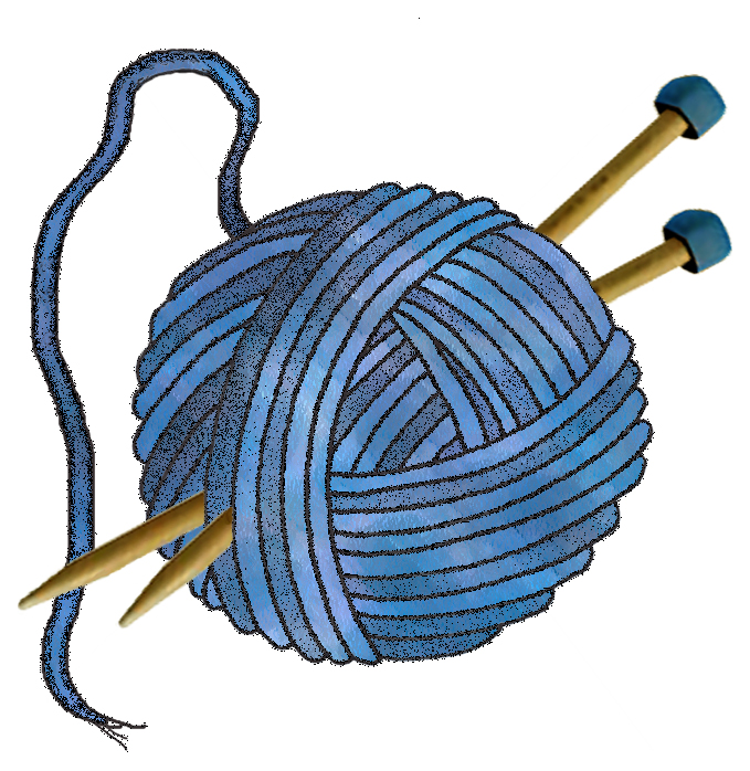 Knitting Crocheting Clipart : Artbyjean paper crafts knitting wool set a blue