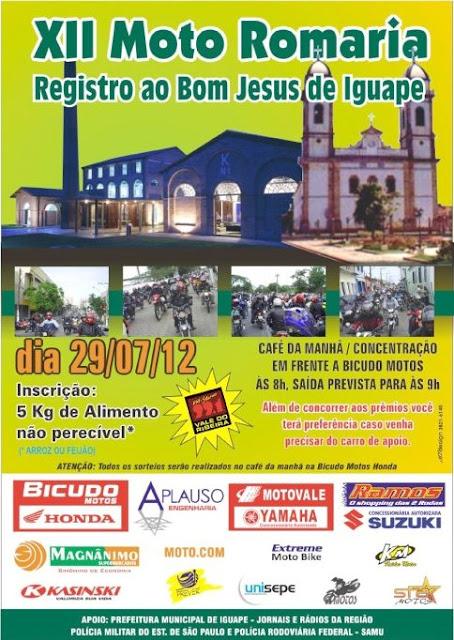 Moto Romaria Registro ao Bom Jesus de Iguape