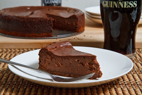Guinness Chocolate Cheesecake on Closet Cooking