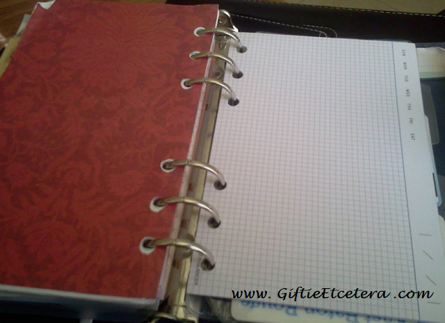 extra notecards; at-a-glance; planning note cards; hole-punched