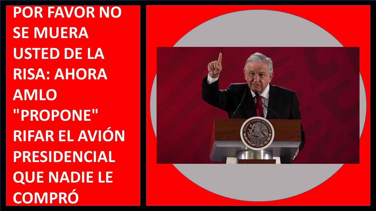 RIFAR EL AVIÓN